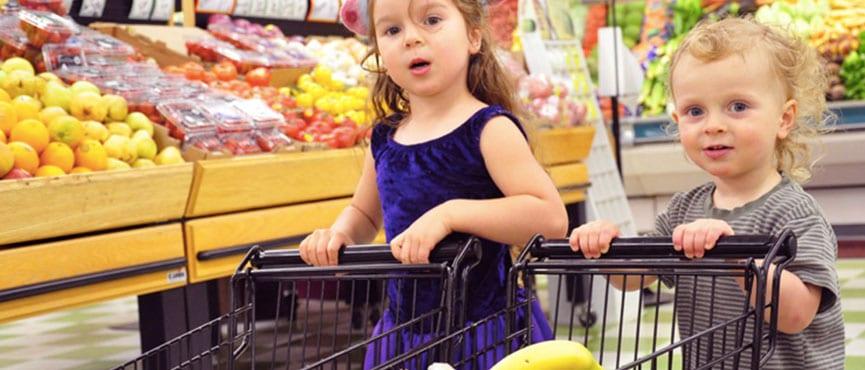 Par napotkov, ko nakupujete z malčkom